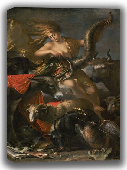 Rosa, Salvator: Allegory of Fortune. Fine Art Canvas. Sizes: A4/A3/A2/A1 (004024)
